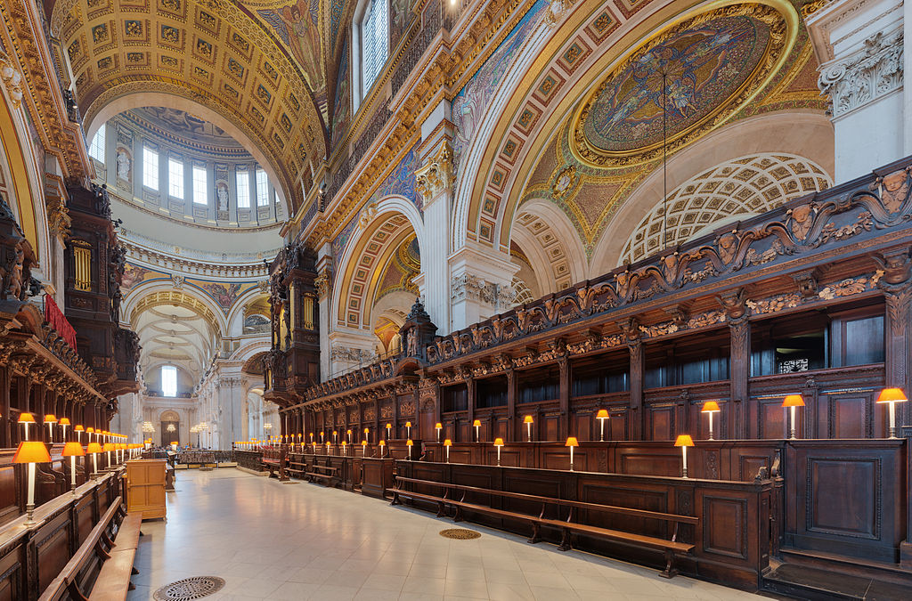 Intérieur de la Cathédrale Saint Paul de Londres - Photo de David Iliff
