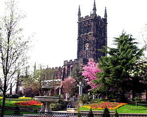 West Midlands conurbation - St Peter's Collegiate Church in Wolverhampton.
