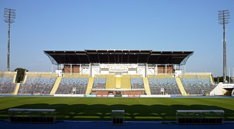 Zdzisław Krzyszkowiak Stadium - Image: Stadion Zawiszy Bydgoszcz trybuna B 2011