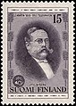 Stamp of Finland - 1955 - Colnect 46218 - Otto Nyberg 1860-1923 1st Chief of the Finnish Telegraph.jpeg