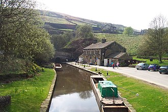 Marsden, West Yorkshire - Tunnel End, the eastern entrance to Standedge Tunnel