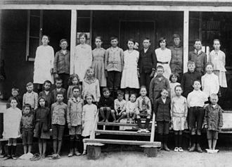 Moore, Queensland - Students of Moore State School, ca. 1915