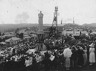 Town of Ithaca - Unveiling of the Ithaca War Memorial in Paddington, Brisbane, 1922