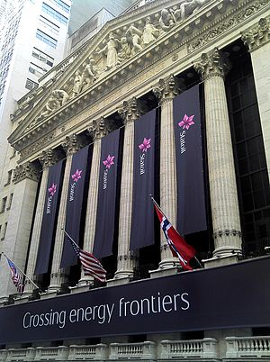 Statoil - The New York Stock Exchange on June 20, 2011, on the 10th anniversary of when Statoil's shares were listed.