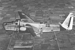 Stearman XA-21 - In flight
