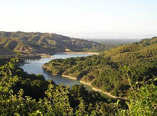 Stevens Creek Reservoir artificial lake