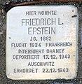 Stolperstein Argentinische Allee 20 (Zehld) Friedrich L Epstein.jpg