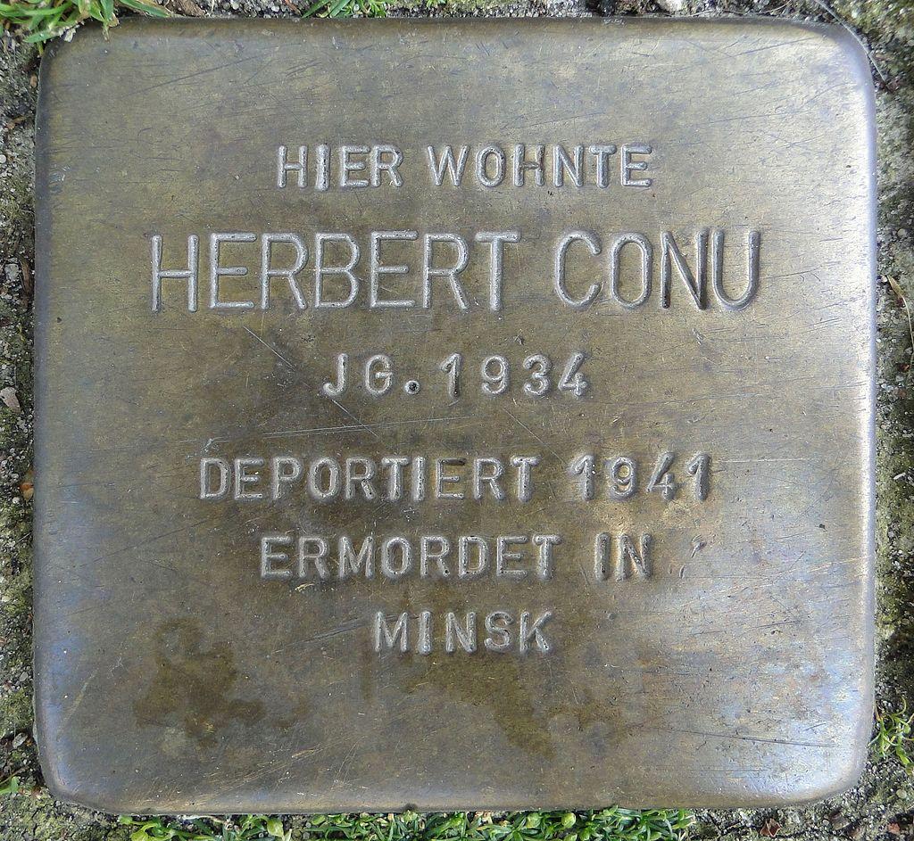 Stolperstein HB-Feldstraße 27 Herbert Conu - 1934.jpg