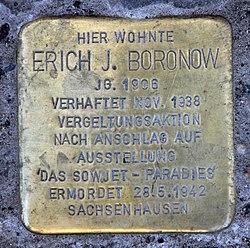 Photo of Erich Julius Boronow brass plaque