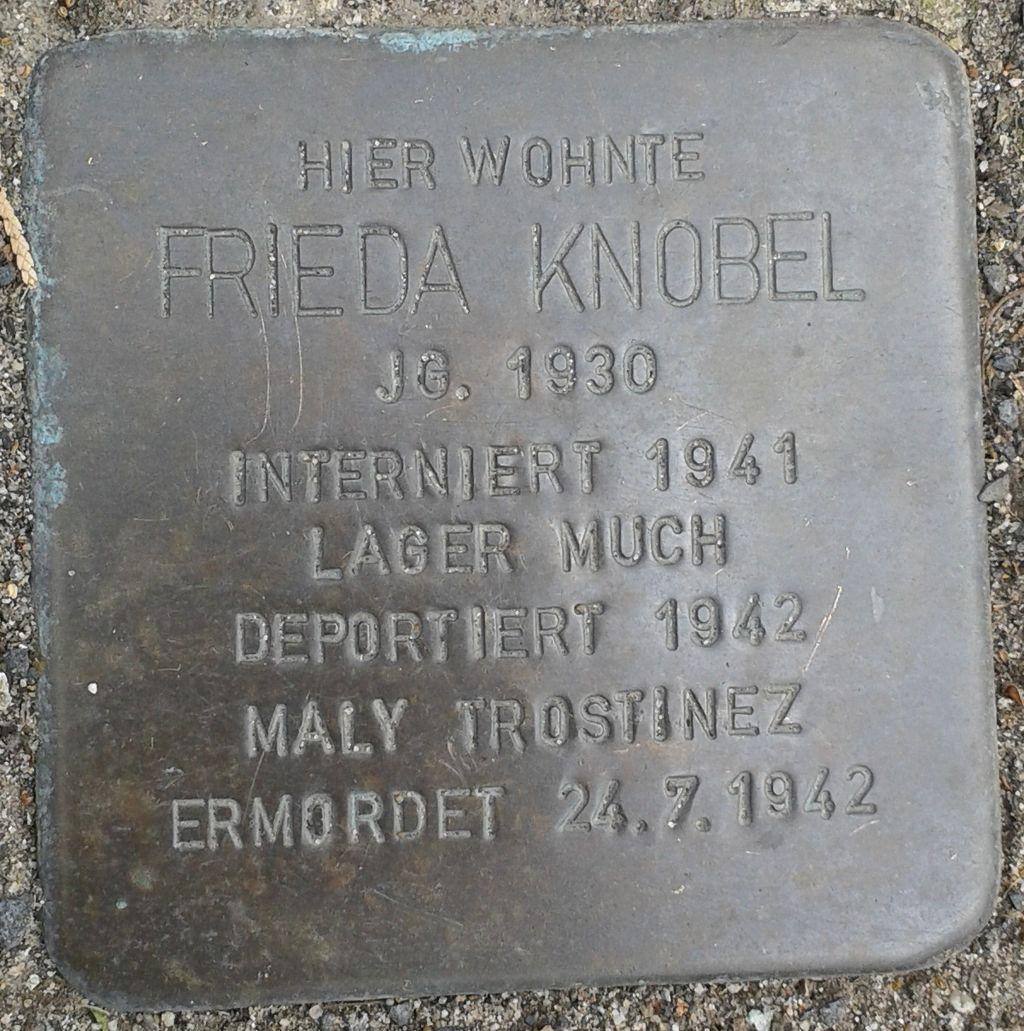 Stolperstein Hennef Bonner Straße 78 Frieda Knobel