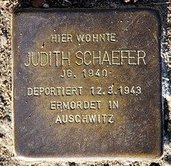 Photo of Judith Anna Schaefer brass plaque