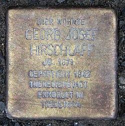 Photo of Georg Josef Hirschlaff brass plaque