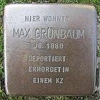 Stolperstein für Max Grünbaum