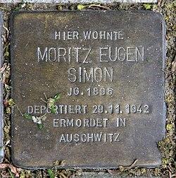 Photo of Moritz Eugen Simon brass plaque