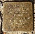 Stolperstein Uferstr 13 (Gesbr) Gertrud Löwi.jpg