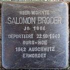 Stolperstein für Salomon Broder