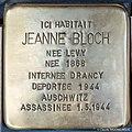 Stolpersteine Jeanne Bloch 17 boulevard Tauler Strasbourg.jpg