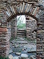 Stone doorway view Rock House Stokes County North Carolina.JPG