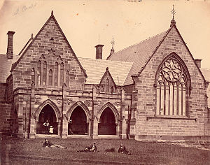 St Paul's College, University of Sydney - Image: Stpaulscollegecamper downcloseup
