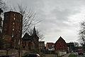 Stralsund, Am Kütertor 1, Turm, Backsteingebäude und Fachwerkgebäude (2012-04-10), by Klugschnacker in Wikipedia.jpg