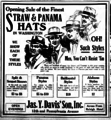Straw and Panama Hat newspaper advertisement 1919.png