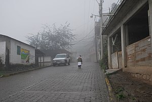 Pahuatlán - View of the main street in San Pablito