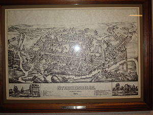 Stroudsburg, Pennsylvania - Map of Stroudsburg, Pennsylvania from 1884