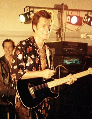 Stuart Adamson - Stuart Adamson performing in August 1991.