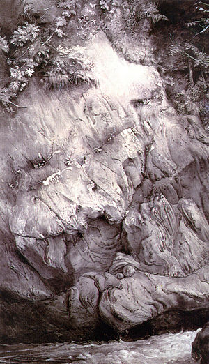 John Ruskin (painting) - Image: Study of Gneiss Rock