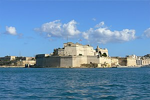 History of Malta under the Order of Saint John - View of Fort Saint Angelo.