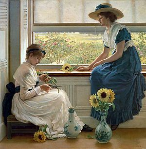 George Dunlop Leslie - Sun and Moon Flowers (1890)