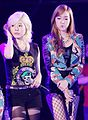 Sunny and Jessica Jung at the Yakult Korea Festival 02.jpg