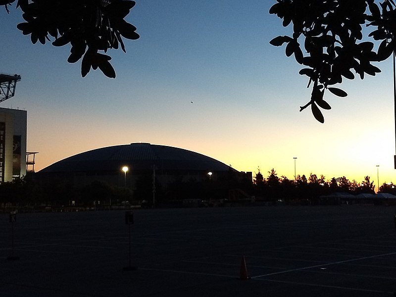 File:Sunrise on the Houston Astrodome.jpg