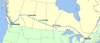 Route map of CN's Super Continental
