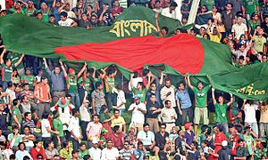 Bangladesh national cricket team - Supporters of the Bangladesh cricket team