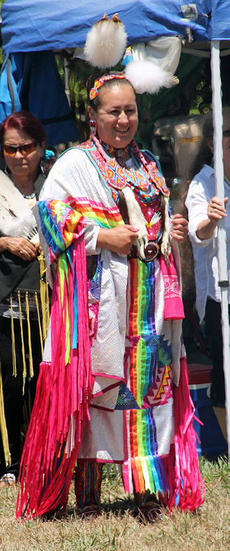 Mohawk people - Mohawk dancer at a pow wow in 2015