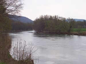 Hallstead, Pennsylvania - Susquehanna River at Hallstead