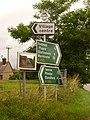 Sutton Waldron, direction signs on the A350 - geograph.org.uk - 1405780.jpg