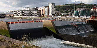 River Tawe - Swansea Bay barrage