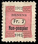 Switzerland Renens 1912 revenue 8 2Fr - 46.jpg