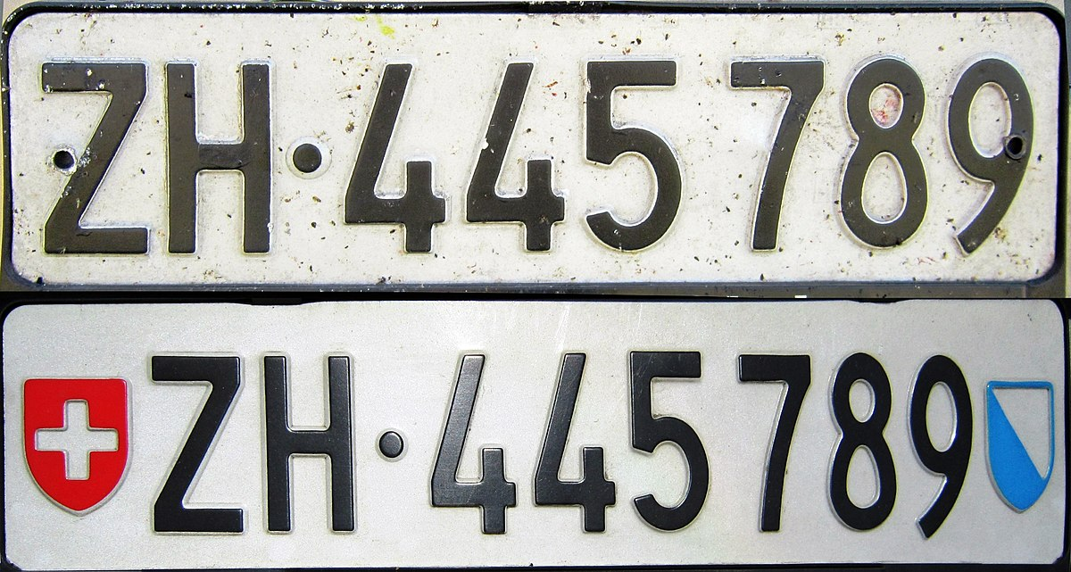 Vehicle Registration Plates Of Switzerland Wikipedia