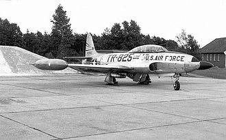 Sembach Kaserne - Lockheed F/RF-80C-10-LO Shooting Star 49-1825 of the 302d Recon Squadron at Sembach, 1953