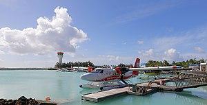 Velana International Airport - A Trans Maldivian Airways DHC-6 Twin Otter