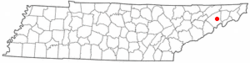 Location of Tusculum, Tennessee