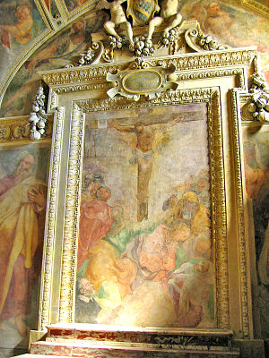 Taddeo Zuccari - Crocifissione, Cappella Mattei, Santa Maria della Consolazione, Rome (1556).