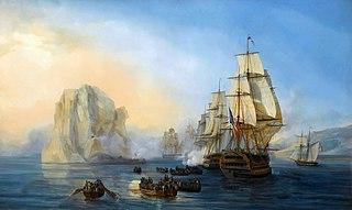Battle of Diamond Rock Naval battle of the Napoleonic Wars