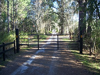 National Register of Historic Places listings in Leon County, Florida - Image: Tallahassee FL Billingsley Farm road 01