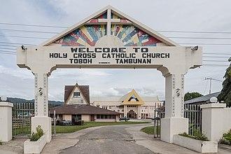 Tambunan District - Image: Tambunan Sabah Holy Cross Catholic Church 01