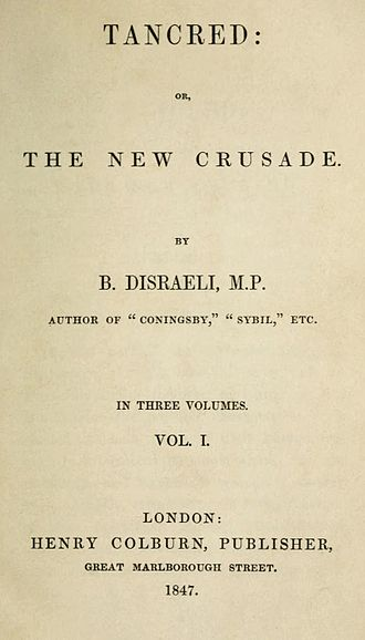 Tancred (novel) - First edition title page