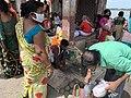 Tarpan or Tarpana ritual - Gopal Ghat in Kolkata 03.jpg